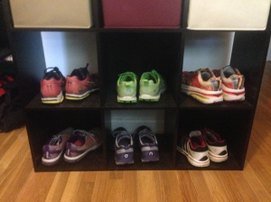 Top Row, L-R: Mizuno Wave Rider 17, On Cloud Racer, Hoka Bondi Speed Bottom, L-R: Asics Gel-Lyte 33 - 3, On Cloud Surfer, Adidas Supernova Glide Boost